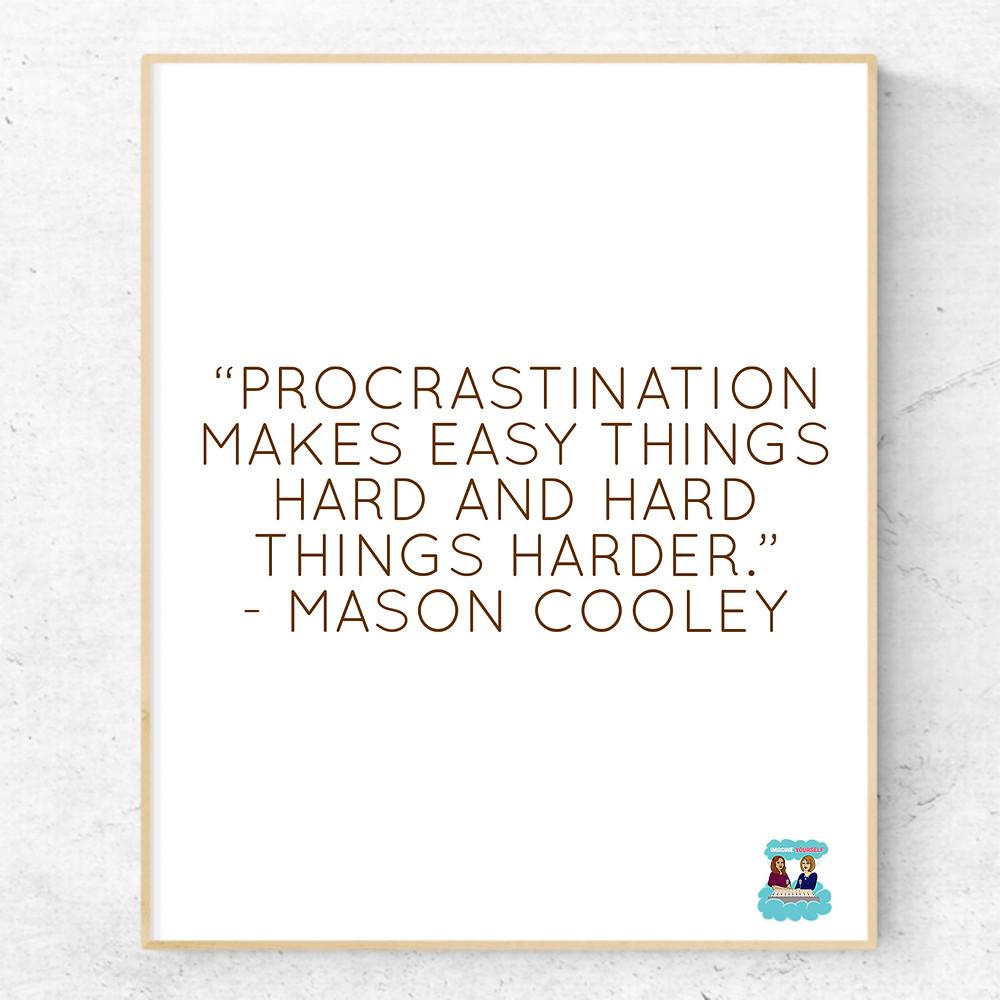 quote about procrastination