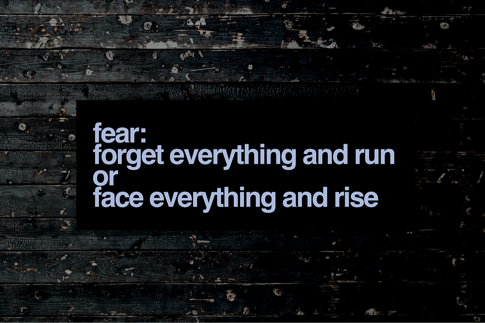 quote about overcoming fear