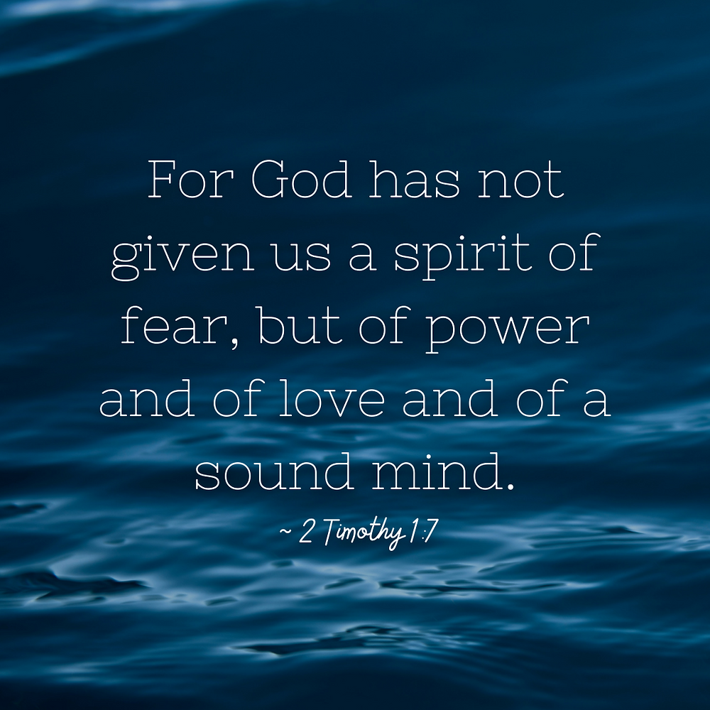 Bible verse about fear. God has not given us the spirit of fear