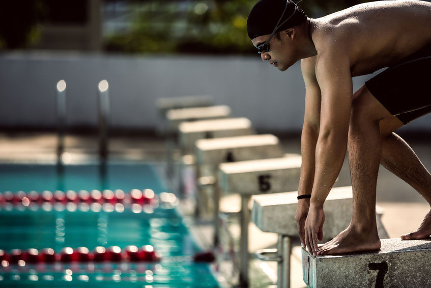 Swimmer ready for competition