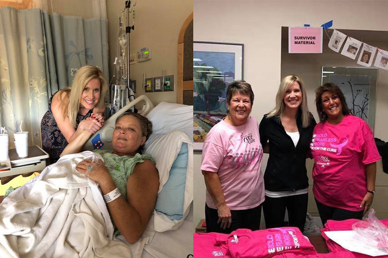 Survivor Kim Adams supports cancer patients and helps raise money for Susan G. Komen Race For the Cure
