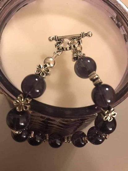Purple daisy bracelet