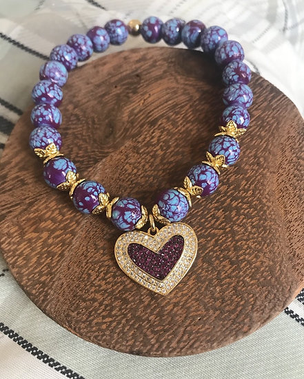 Purple and Gold Heart