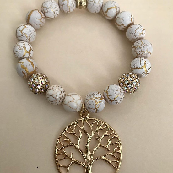 Gold Tree of Life bracelet