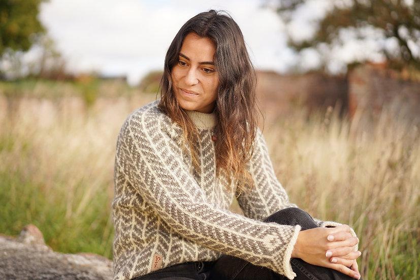 Sirri, uld sweater dame, model Bonderøven