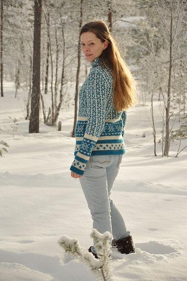 Sirri, mønstret uld sweater dame
