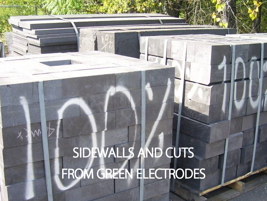 sidewalls recycled green electrodes