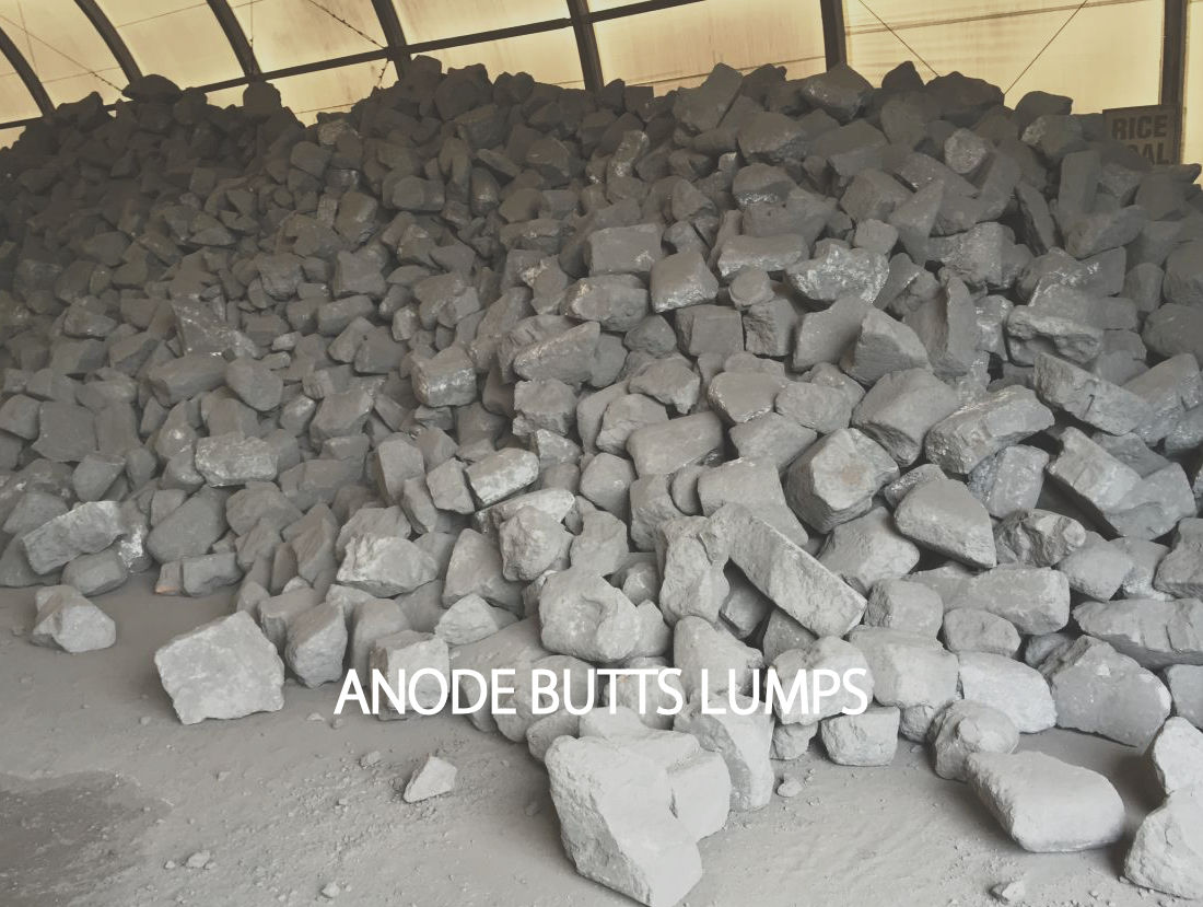 anode butts lumps recycled