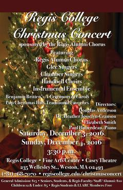 Glee Christmas Concert Poster 2016