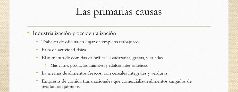La comida y la salud: El aumento de la obesidad en Mexico