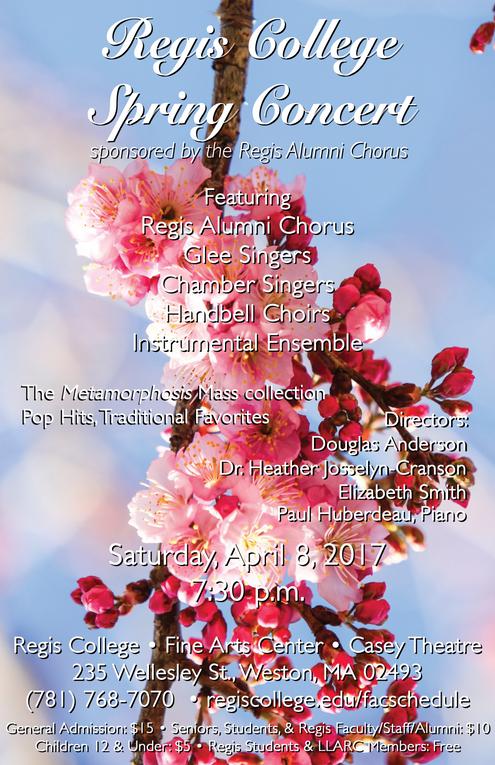 Glee Spring Concert Poster 2017