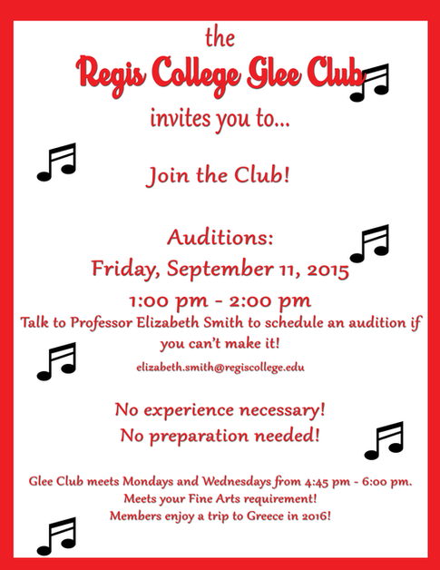 Glee Audition Flyer