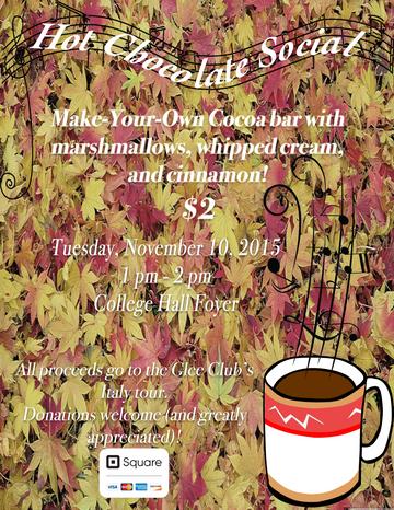 Glee Hot Chocolate Social Flyer