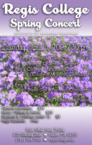 Glee Spring Concert Poster 2016