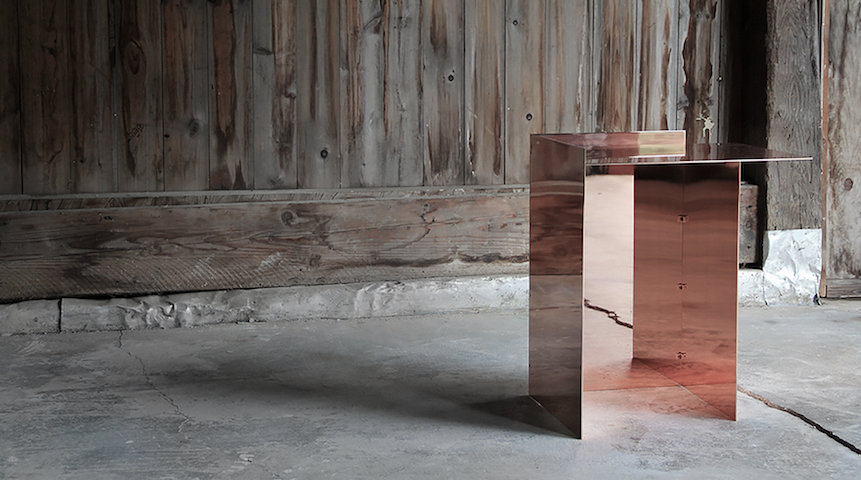 Copper Side Table by Richard Ostell