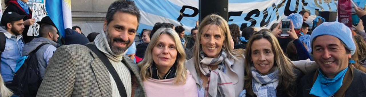 Gastón Iudica, Connie Schmidt Liermann, Mercedes Moreno, María Feldtmann y Juan.