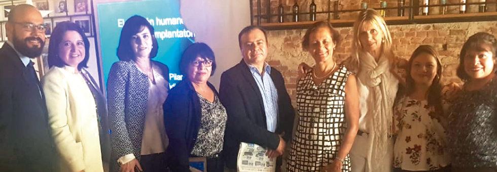 Guatemala – Septiembre 2018. Colaborando en la organización de la Gran Marcha por la Vida con Aníbal Rojas (diputado), Dra. Pilar Calva Mercado (reconocida experta en bioética), José Córdova (Director Jurídico de AFI) y Alexandra de Skinner-Klée (de la Asociación Familia Importa).