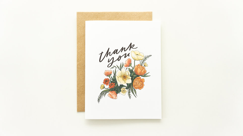 Warm Floral Thank You