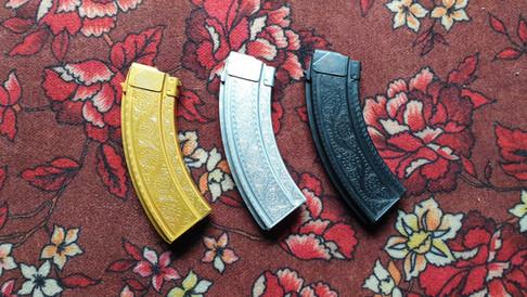 Hand Engraved AK Magazines   Darra, FATA, Pakistan