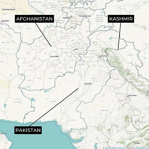 Pak-Afghan-Kashmir MAP