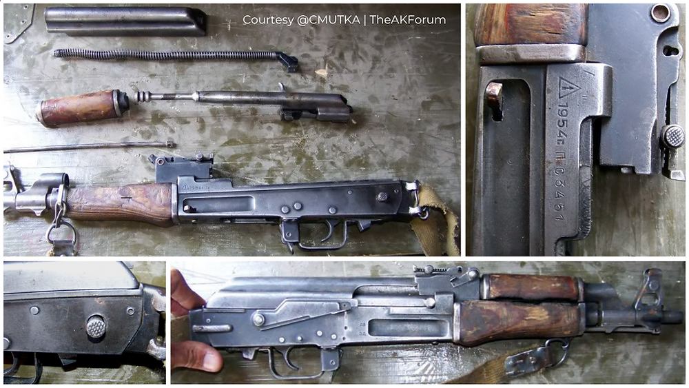 Fig.1.3. A very crude but interesting modification to a Type 2 AK rifle, this one ha been shortened and had a side-folding mod. done (Source: @CMUTKA | TheAKForum)