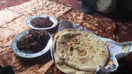 Eating Chappli Kabab & Patta Tikka   Darra Adamkhel, FATA, Pakistan