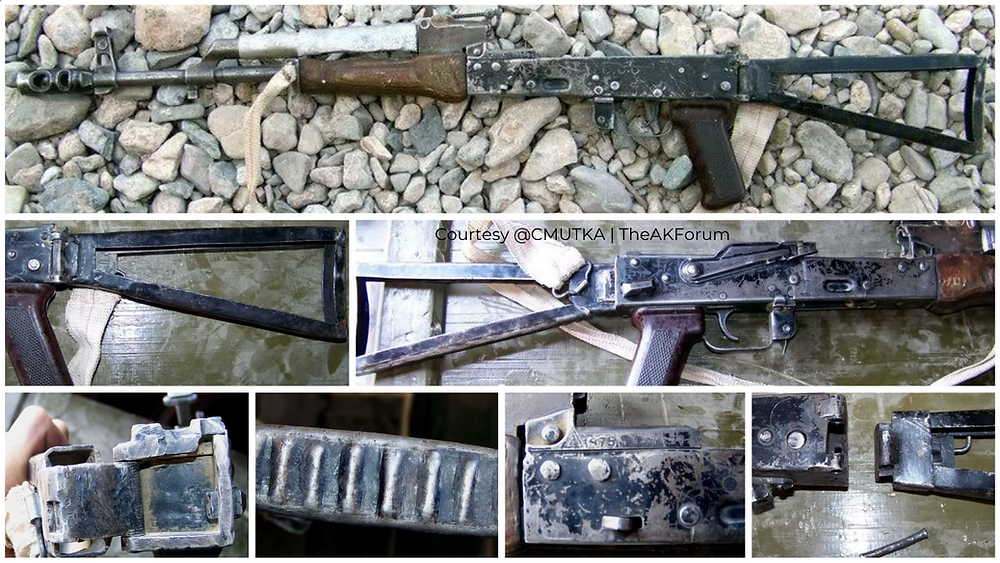 Fig.1.4. Another crude but interesting modification to a Russian AKM rifle, this one has a and had a side-folding mod. done (Source: @CMUTKA | TheAKForum)