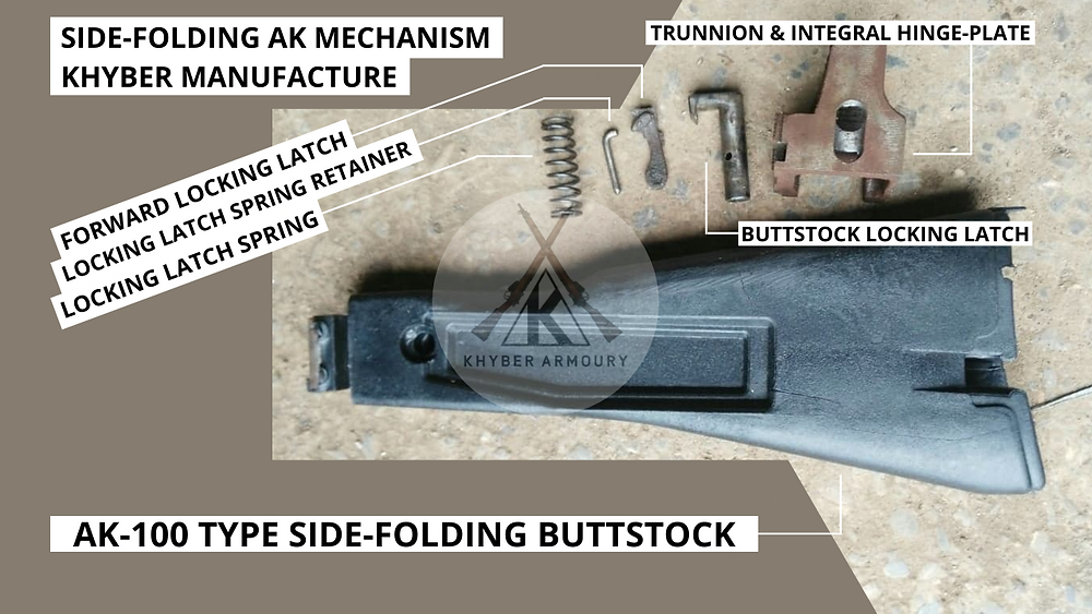 Fig.2.5. AK upgrade/modification package for AK-100 side-folder (Source: Khyber Armoury)