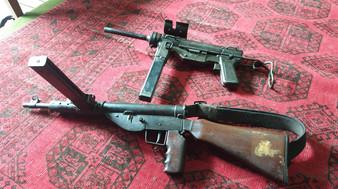 M3 'Grease Gun' & Darra Made STEN MkIV   Darra Adamkhel, FATA, Pakistan