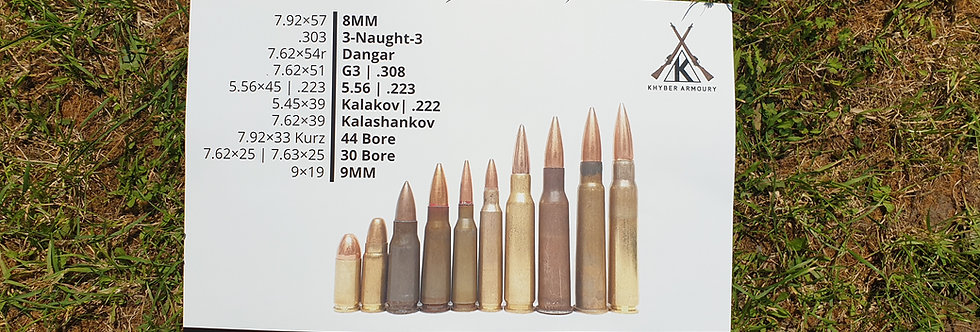 Poster | A3 | Pak-Afghan Cartridge Designations