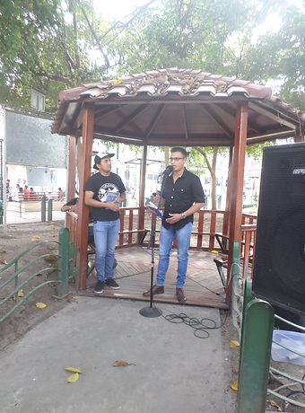 Diego Maenza, 2018 (Presentación de la novela Estructura de la plegaria, Manta-Ecuador)