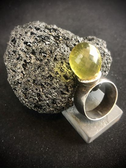 Glass & Sterling Ring