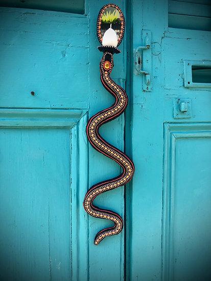 Snake Candle Sconce Pair | Nancy Josephson