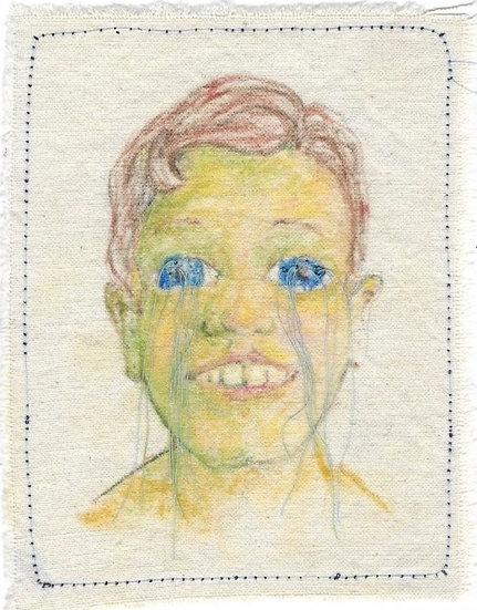 Cry Eye   Stitched Card