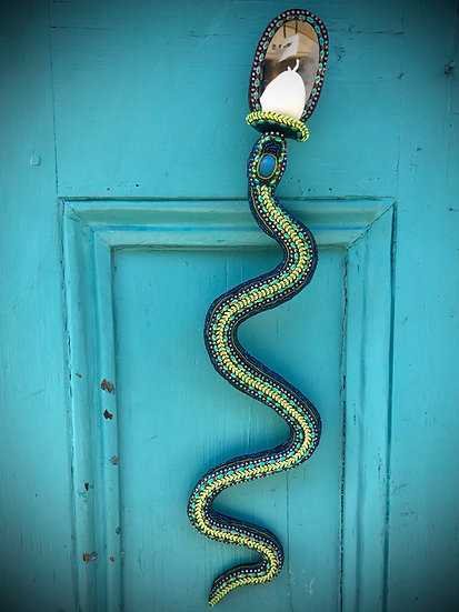 Snake Candle Sconce Pair | Nancy Josephson