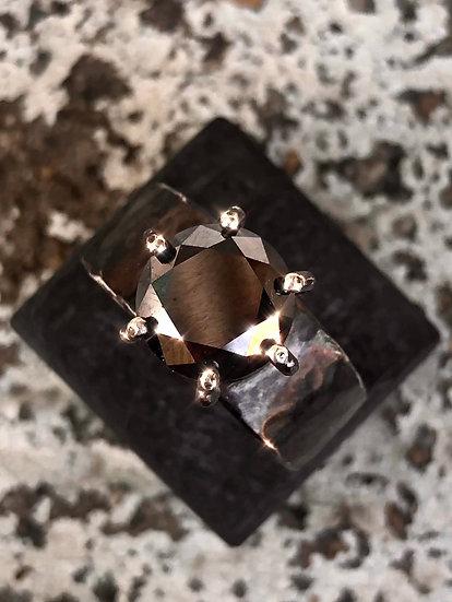 Moissanite & Sterling Ring