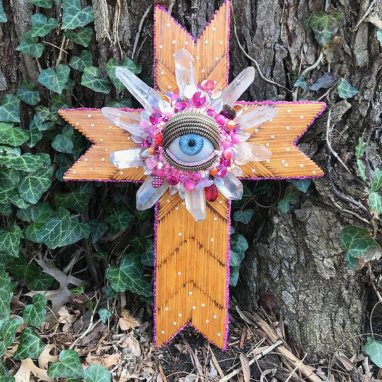 The Parade Series | Big Eye Folk Art Cross