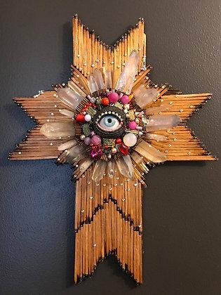 Folk Art Cross with Eye