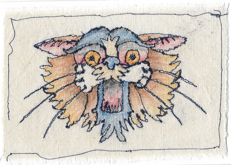 Here Kitty Kitty | Stitched Card by Scott Long