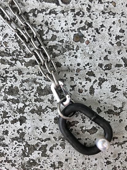 Steel & Pearl Pendant