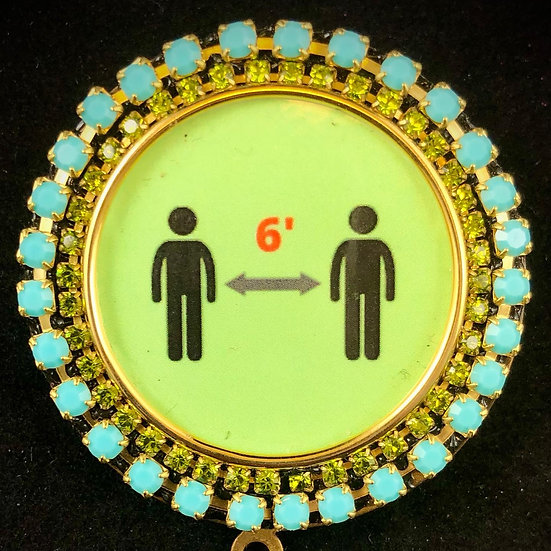 Social Distance Brooch | Nancy Josephson