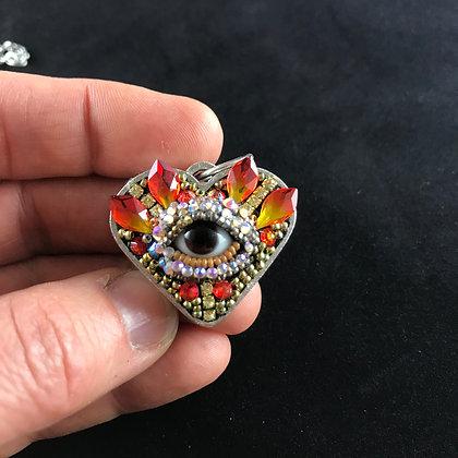 Small Eye Heart Pendant