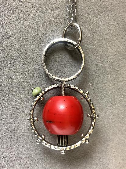 Glass & Sterling Pendant