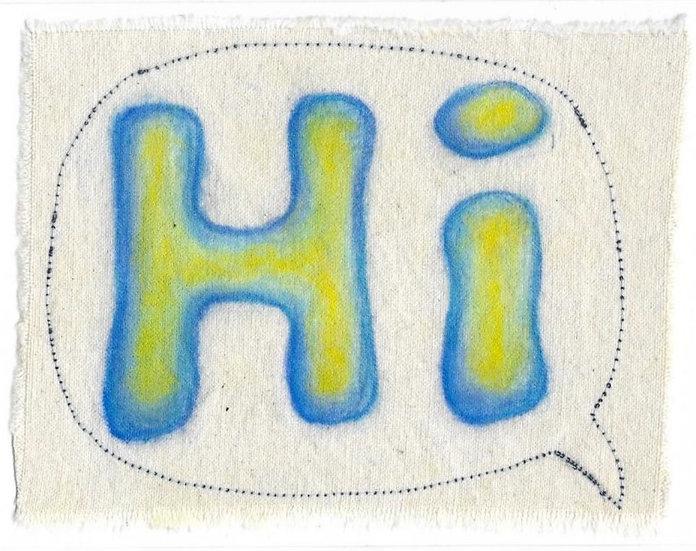 Hi | Stitched Card