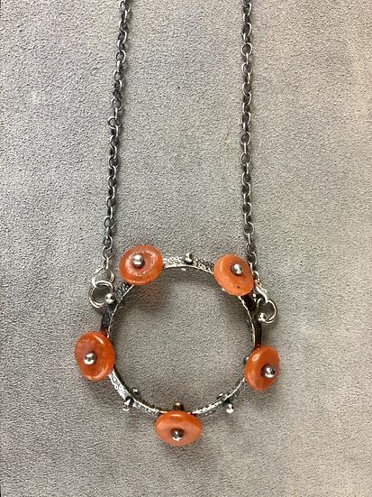 Glass & Sterling Wheel Pendant