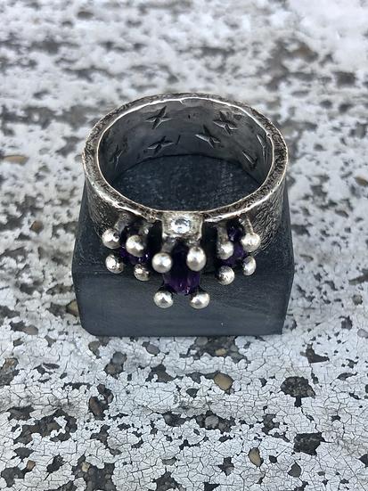 Amethyst & Sterling Ring