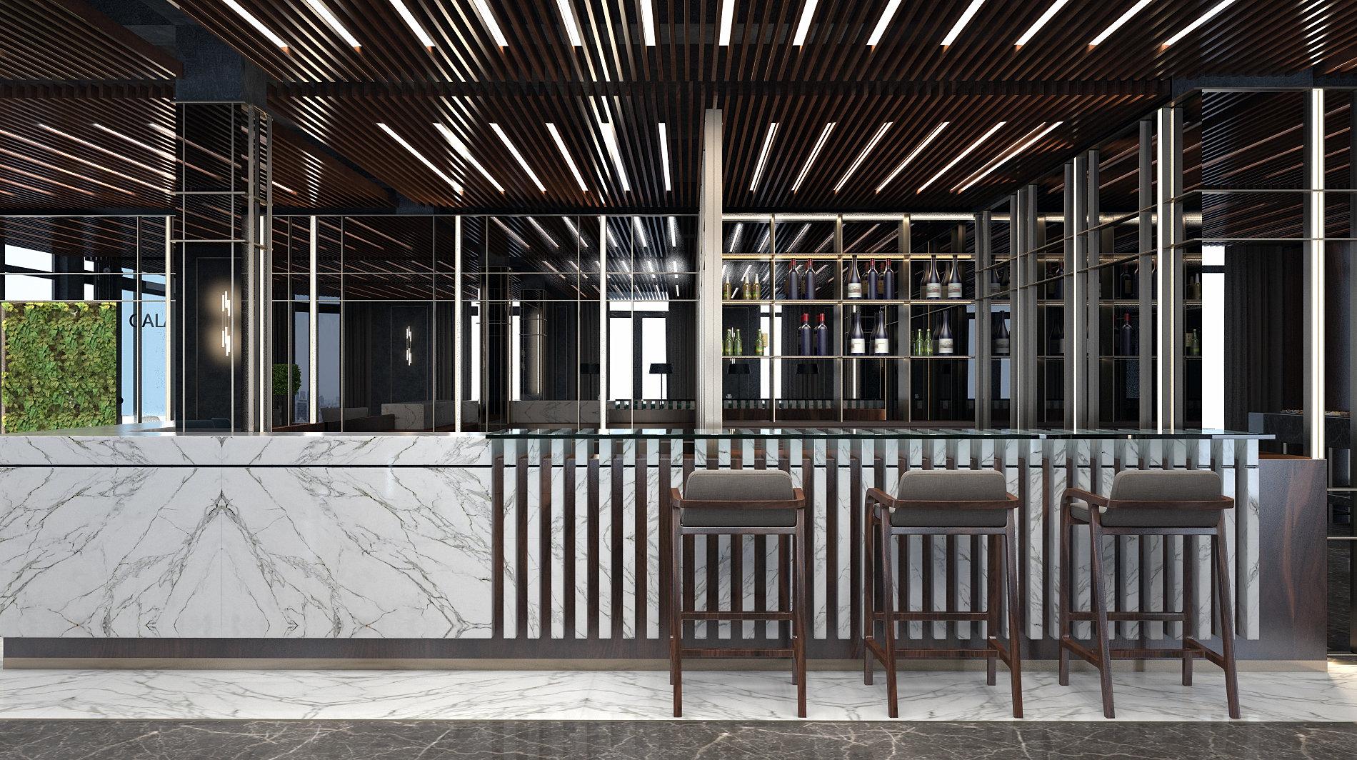 Mimarl k 3d studio stanbul hotel lobi bar design for Design hotel f 6 genf