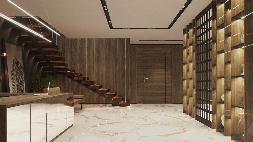 konaç prestij ofis giriş alanı tasarımı