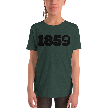 1859 Black Logo Youth Short Sleeve T-Shirt