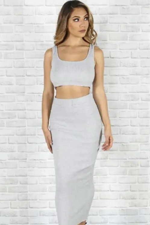 Two-Piece Top and Long  Skirt Set